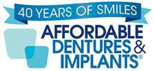 Affordable Dentures and Implants logo